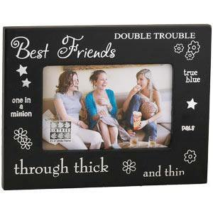 sixtrees best friend black wood 4 inch by 6 inch frame