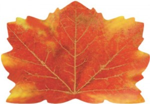 maple leaf shaped placemats thanksgiving table decorations