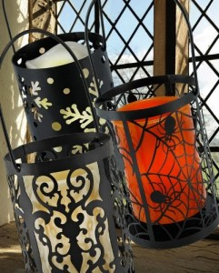 led hanging lantern battery operated flameless halloween candles