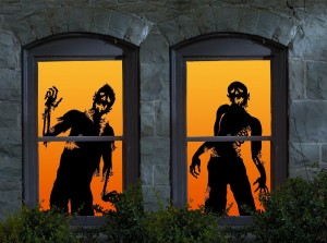 ghoulies zombie halloween silhouettes