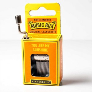 kikkerland you are my sunshine music box with crank handle