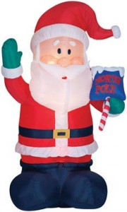 gemmy air blown outdoor giant inflatable santa