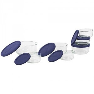 round pyrex glass storage containers with lids