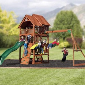highlander best wood swing sets