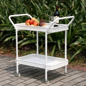jeco outdoor wicker patio furniture serving cart - Resin Wicker Patio Furniture