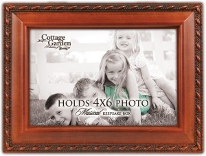 cottage garden children photo frame you are my sunshine music box woodgrain