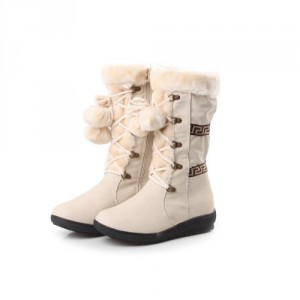reneeze coco-1 flat heel white winter boots for women