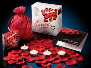 amore valentines day rose petals